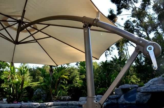 Hanging Offset Patio Umbrellas For Newest Offset Patio Umbrella – Beige 10' Adjustablequality Patio Umbrellas (Gallery 2 of 15)
