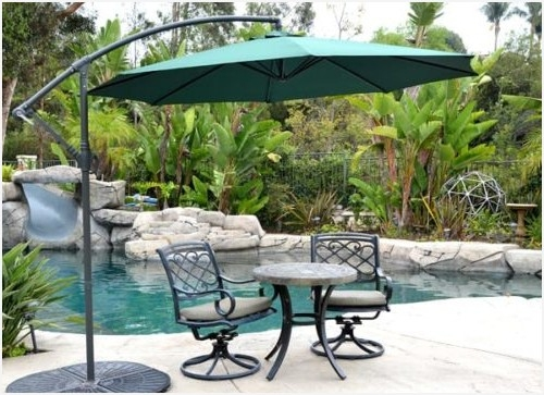 Hanging Patio Umbrella » Luxury Offset Hanging Outdoor Patio Pertaining To Most Current Hanging Patio Umbrellas (Gallery 12 of 15)