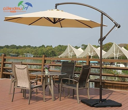Hanging Patio Umbrellas Pertaining To Most Popular Get This Hanging Outdoor Patio Umbrella For Affordable Price Only At (Gallery 6 of 15)