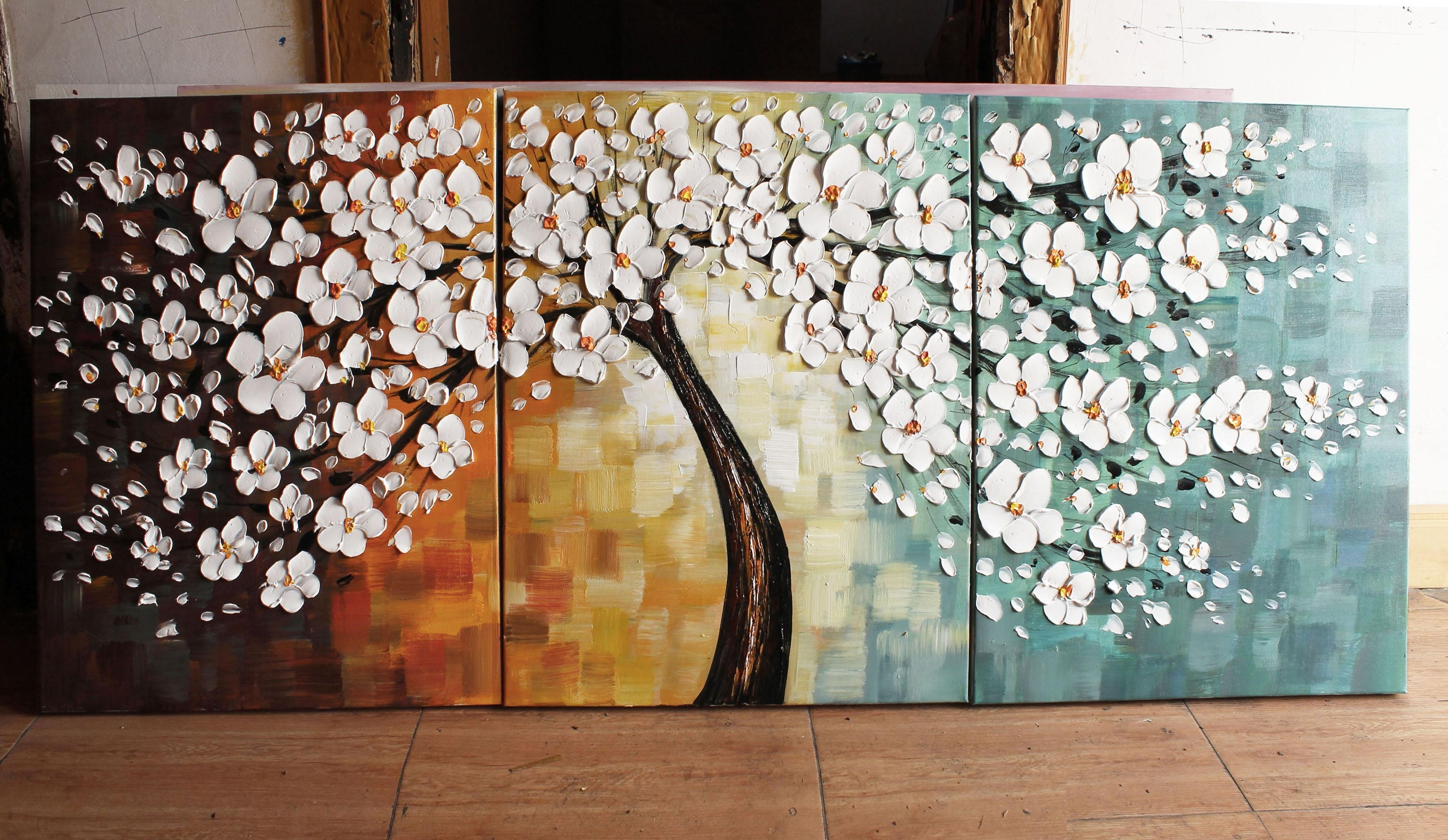 Happy Tree Group Canvas Art Wall Landscape Paintingmuseum Quality With Well Known Wall Canvas Art (View 2 of 15)