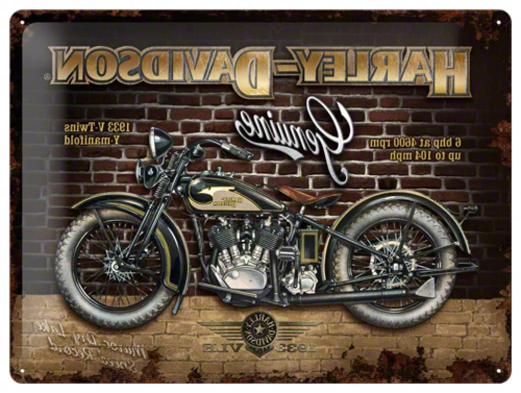 Harley Davidson Wall Art – Culturehoop With Popular Harley Davidson Wall Art (Gallery 7 of 15)
