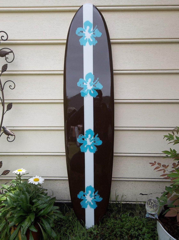 Hawaiian Surfboard Wall Hanging, Four Foot Wall Decor, Surfboard Within Newest Surfboard Wall Art (View 3 of 15)