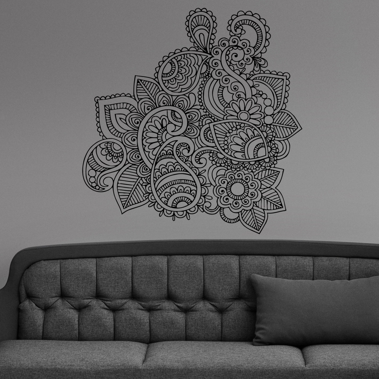 Henna Wall Art Intended For Favorite 42 Henna Wall Art, Boho Spirit Page 3 Artbedding – Swinkimorskie (Gallery 3 of 15)