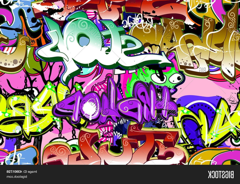 Hip Hop Wall Art Pertaining To Preferred Graffiti Wall Urban Art Background Seamless Hip Hop Image – Cg4P3901728C (View 11 of 15)