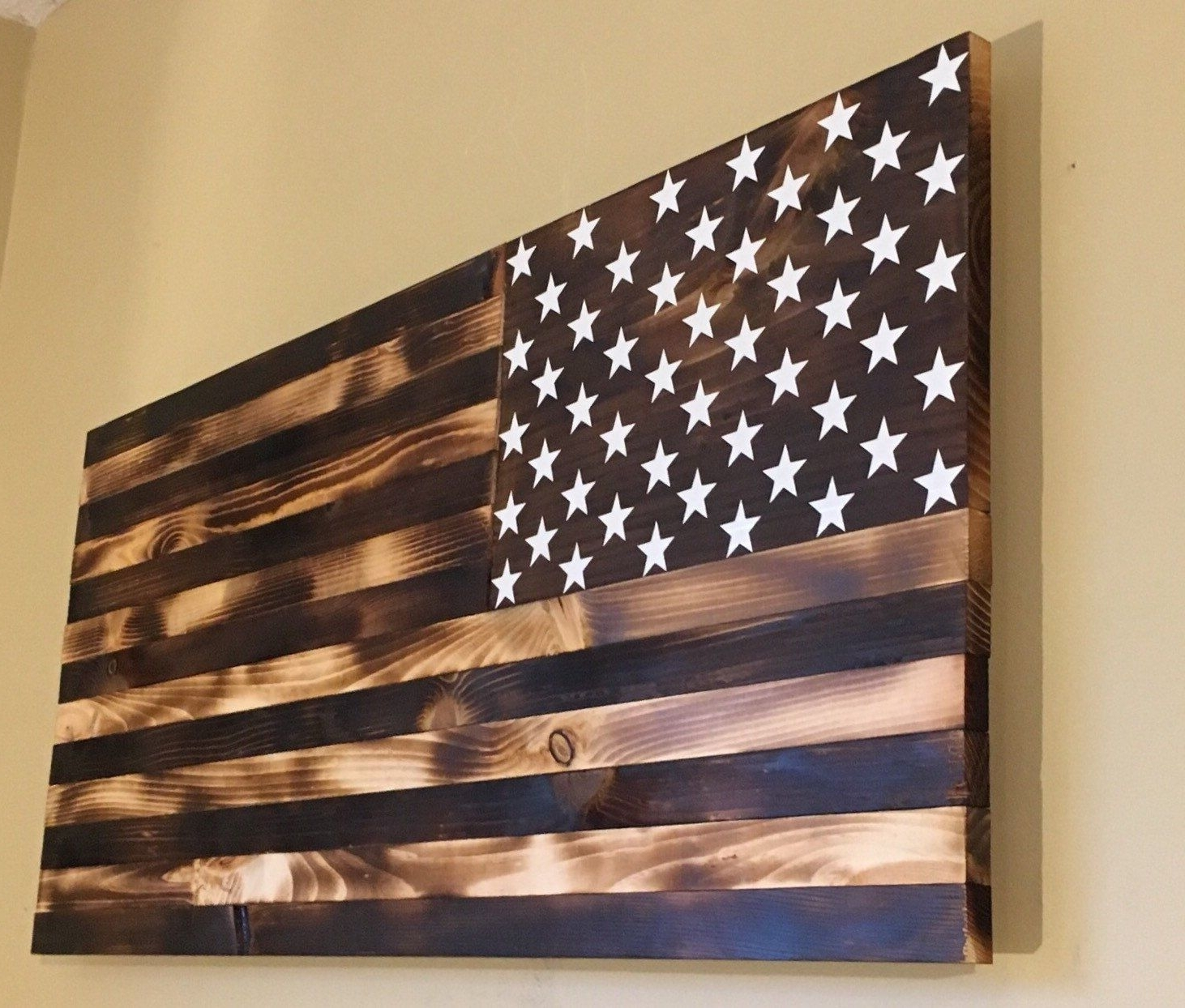 Featured Photo of Wooden American Flag Wall Art
