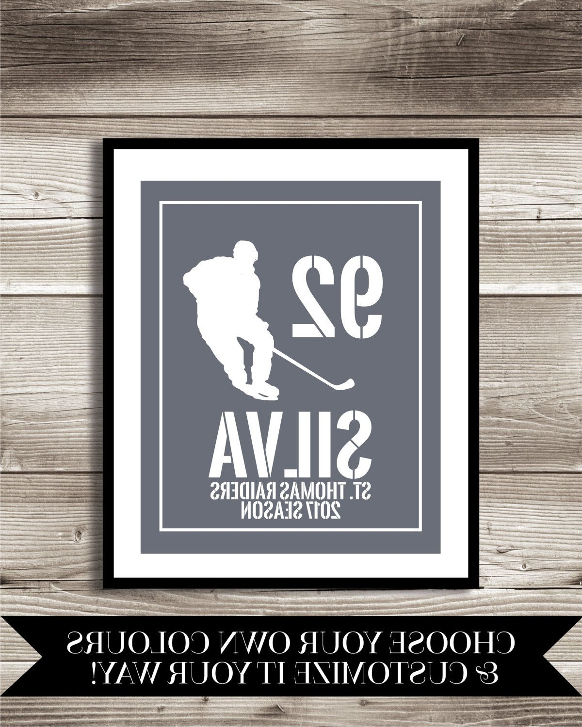 Hockey Wall Art With Most Recently Released Hockey Art, Hockey Gift, Personalized Hockey Photo Print, Hockey (View 15 of 15)