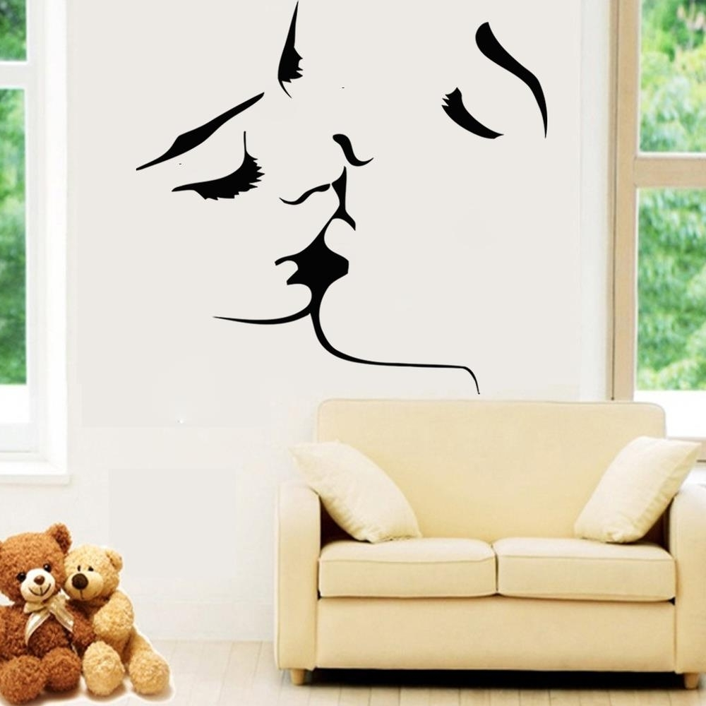 Home Decor Wall Art For Current Best Selling Kiss Wall Stickers Home Decor 8468 Wedding Decoration (View 4 of 15)