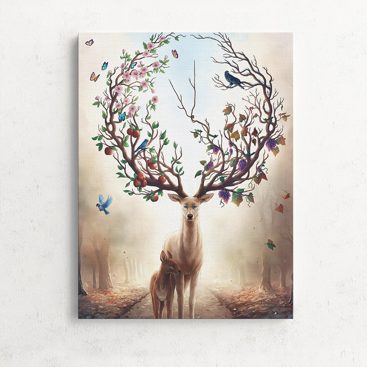 Home Decor Wall Art Intended For Current Unframed Canvas Print Deer Design Modern Home Decor Wall Art (Gallery 11 of 15)
