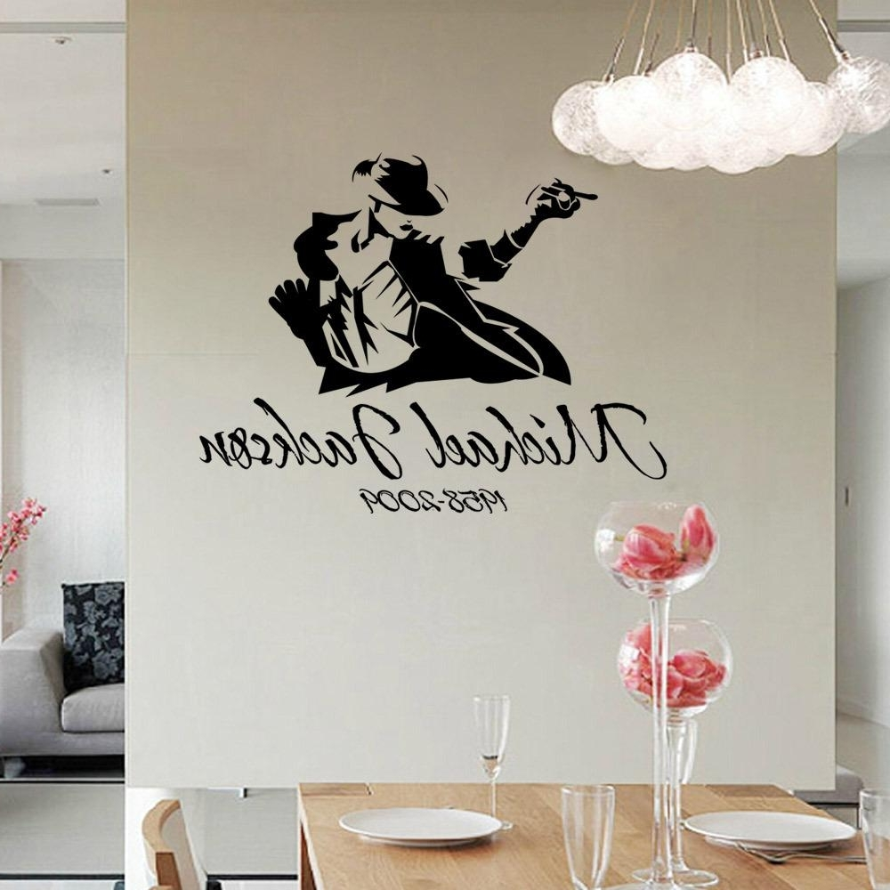 Home Decor Wall Art With Regard To Most Recent 2017 Dancing Michael Jackson Wall Stickers Removable Vinyl Wall (Gallery 5 of 15)