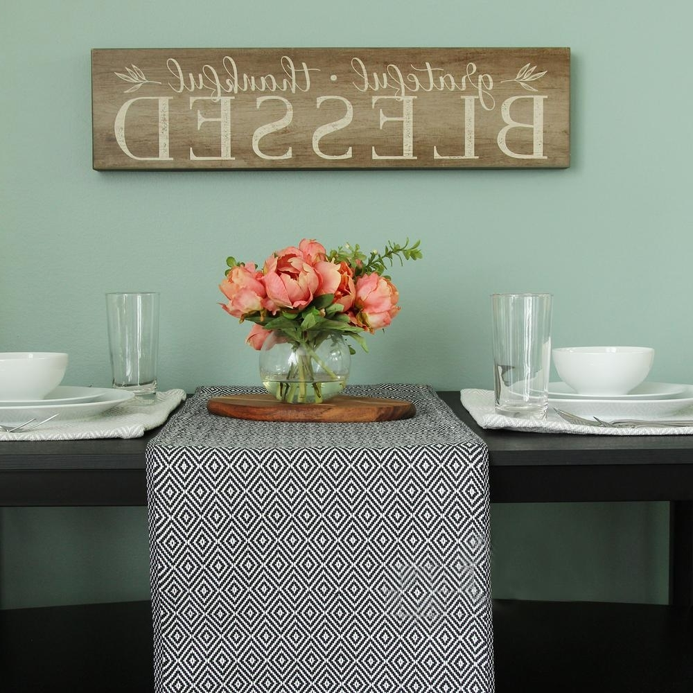 "Home Decor Wall Art Within 2017 Stratton Home Decor ""grateful, Thankful, Blessed"" Decorative Sign (Gallery 10 of 15)"