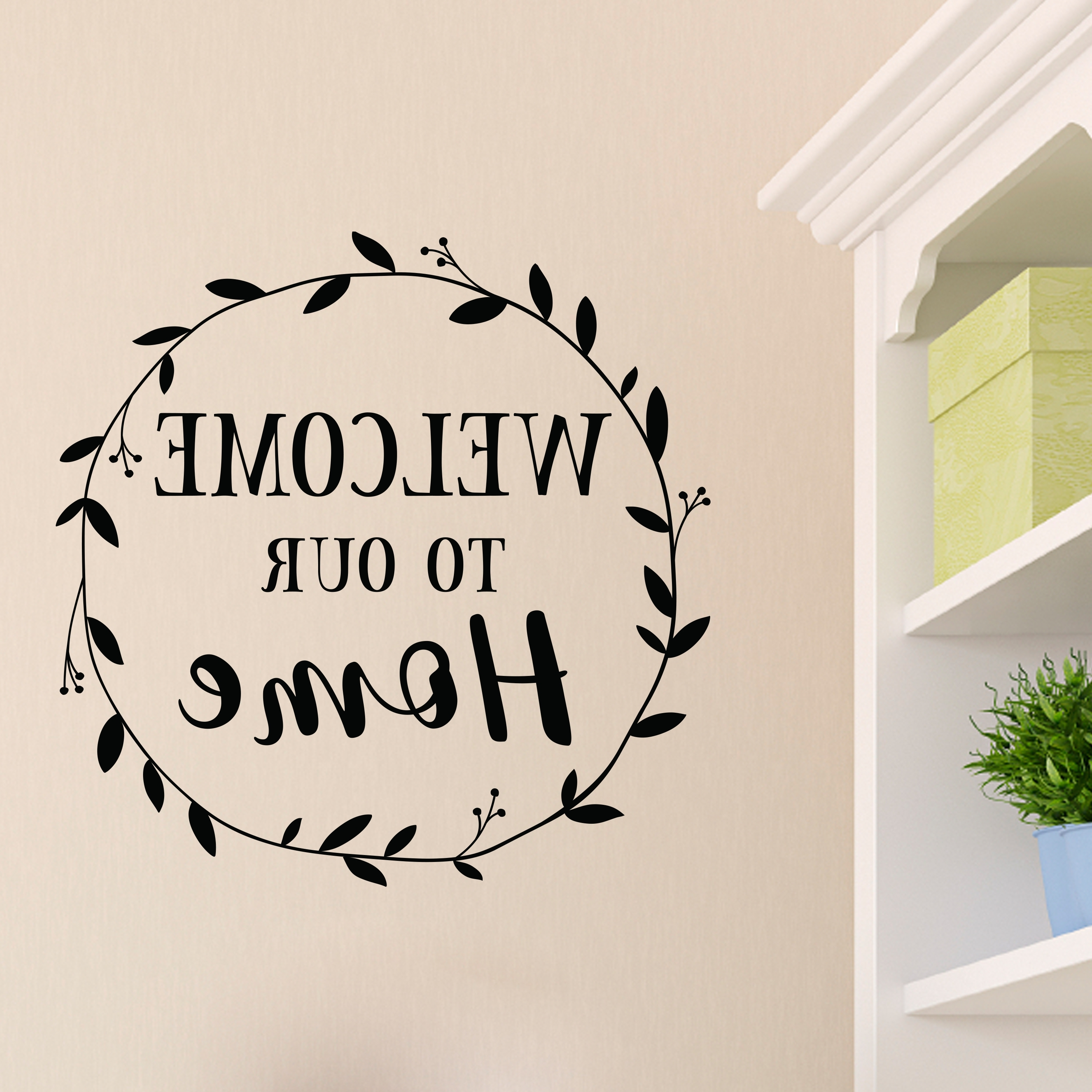 Home Wall Art For 2017 Welcome To Our Home Vinyl Wall Decal, Entry Wall Art, Picture Wall (Gallery 14 of 15)