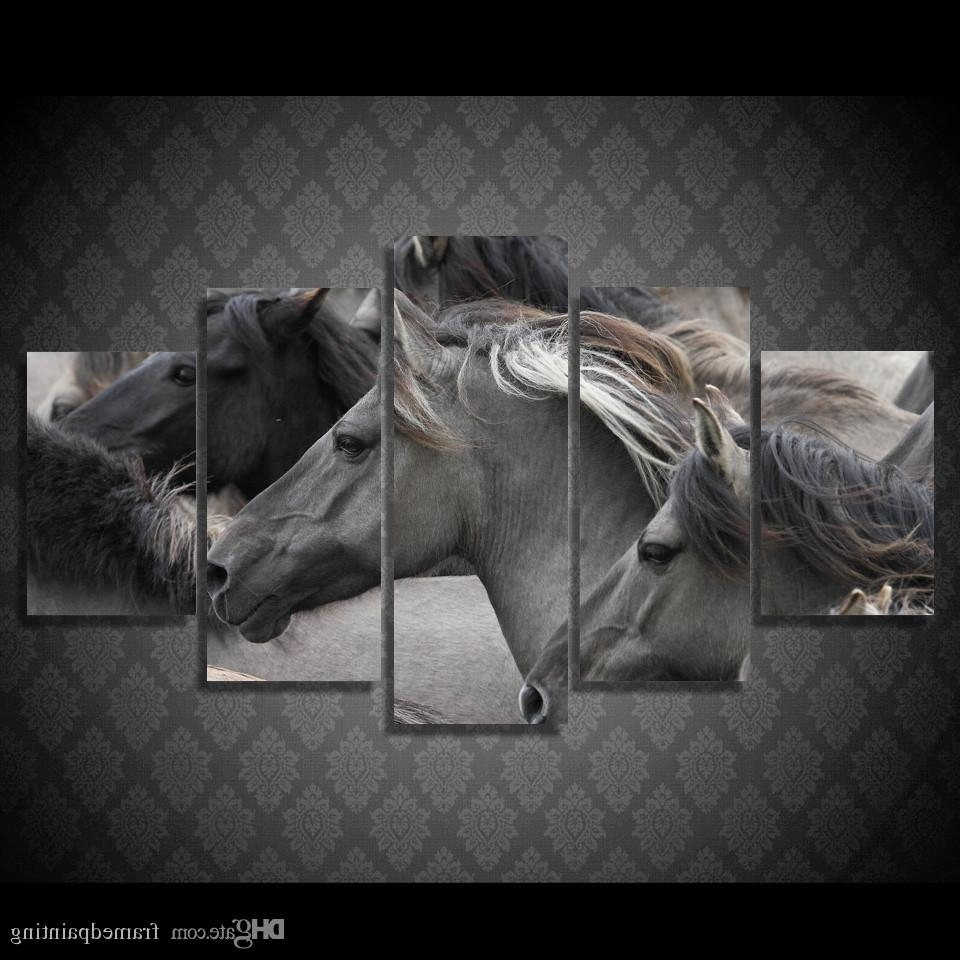 Horse Wall Art Throughout Current 2018 Framed Hd Printed Wild Horse Wall Art Picture Canvas Print (View 15 of 15)