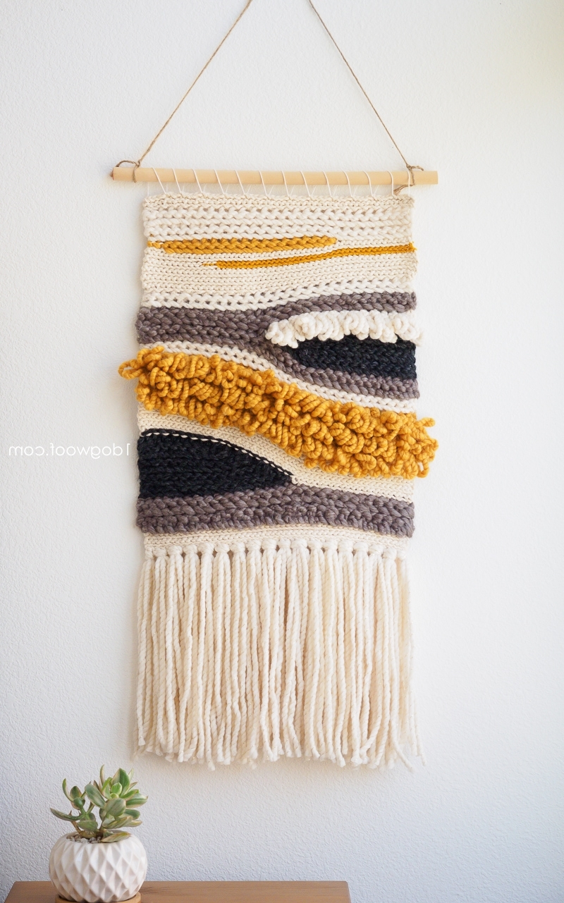 How To Make Your Own Woven Crochet Wall Hanging – One Dog Woof With Regard To Favorite Crochet Wall Art (Gallery 8 of 15)