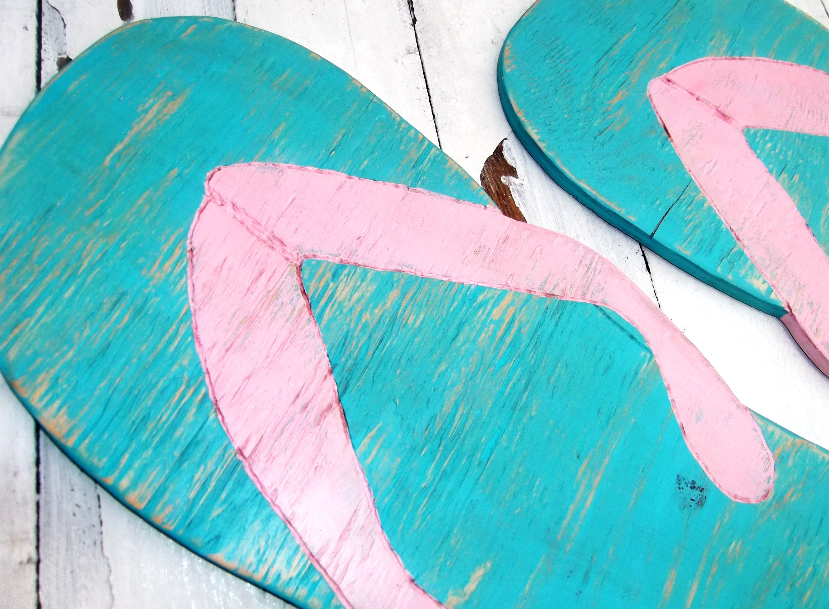 Huge Flip Flops Beach House Decoration, Wedding Decor Supersized Within Well Liked Flip Flop Wall Art (View 2 of 15)