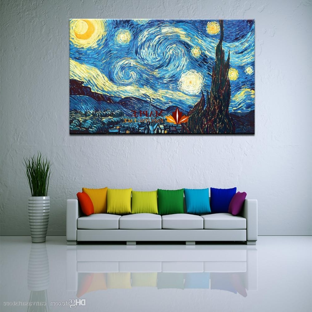 Huge Wall Art Within Well Known 2018 Huge Canvas Wall Art Starry Nightvincent Van Gogh Giclee (View 3 of 15)