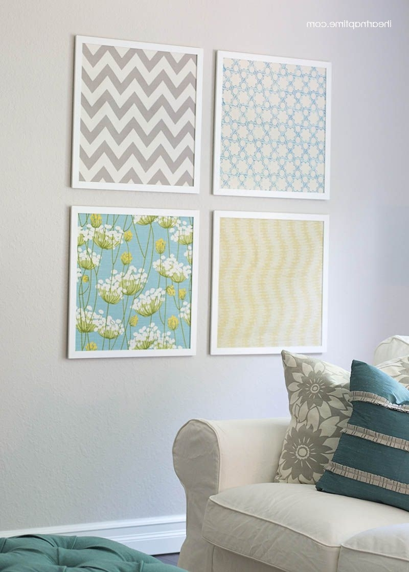 I Heart Nap Time – Easy Recipes Regarding Fabric Wall Art (Gallery 1 of 15)