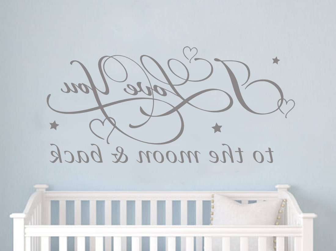 I Love You To The Moon And Back Wall Art Intended For Most Recent Love You To The Moon And Back Wall Art – Arsmart (Gallery 9 of 15)