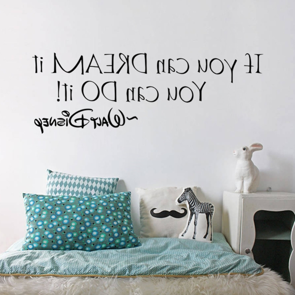 If You Can Dream It You Can Do It Inspiring Quotes Wall Stickers regarding Famous Inspirational Wall Art