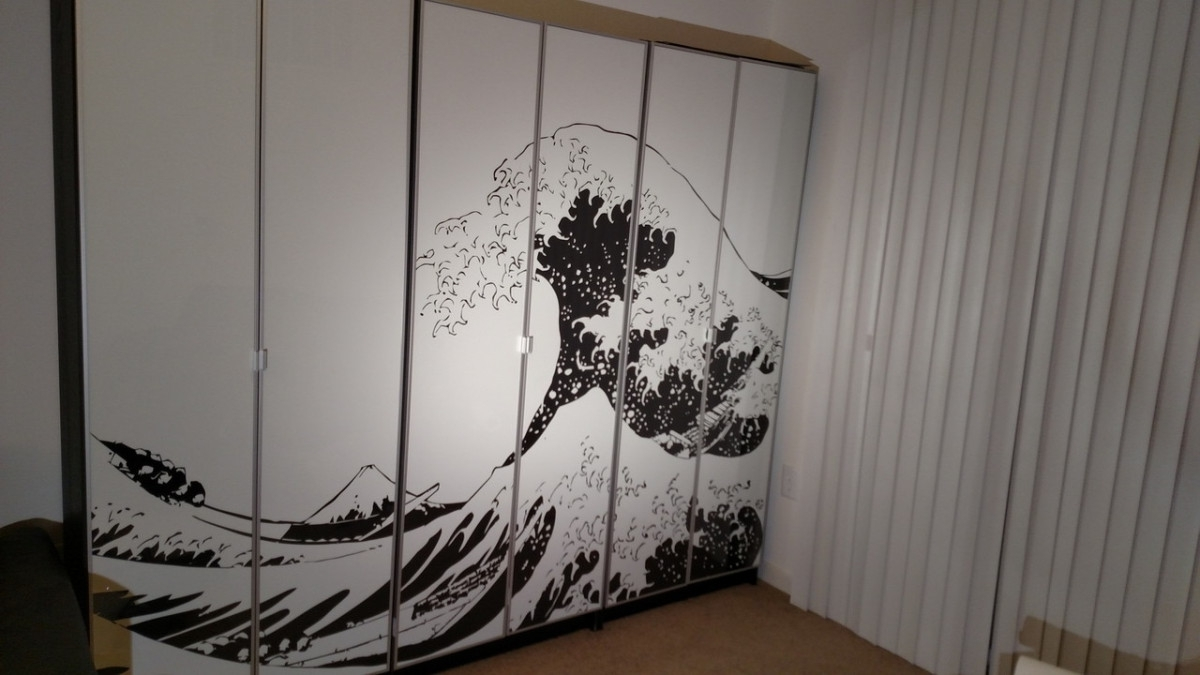 Ikea Canvas Wall Art inside Latest Turn Billy Bookcases Into Bold, Large Wall Art - Ikea Hackers