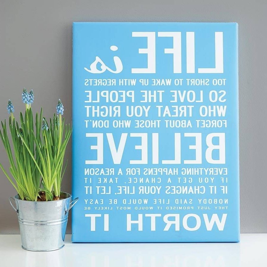Inspirational Wall Art Canvas Within Most Current Make Your Own Quote Print – Makecanvasprints (View 15 of 15)