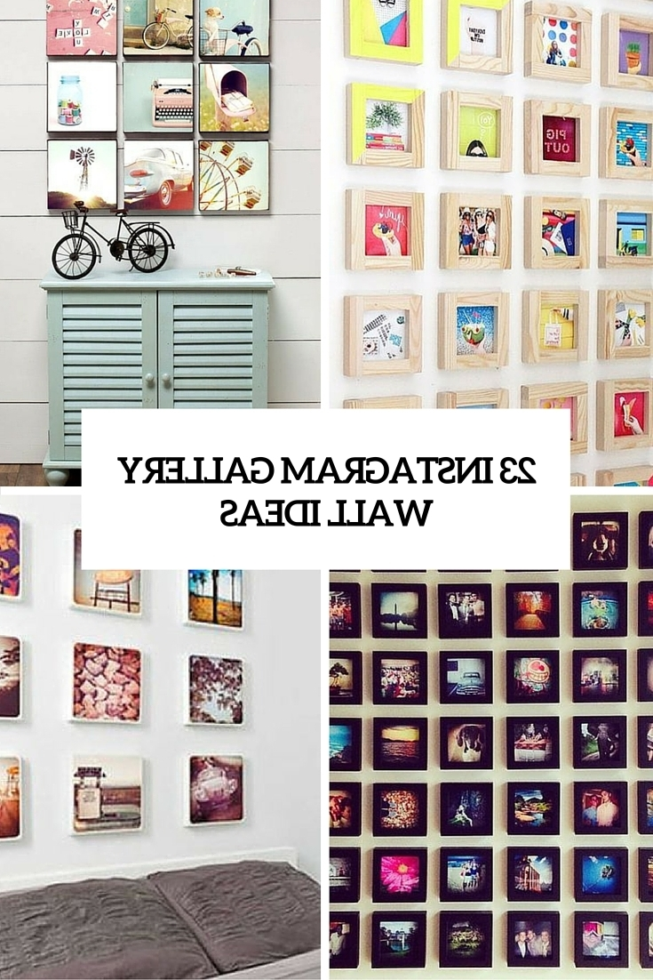 Instagram Wall Art For Most Up To Date 23 Instagram Gallery Wall Ideas For Trendy Décor – Shelterness (Gallery 2 of 15)