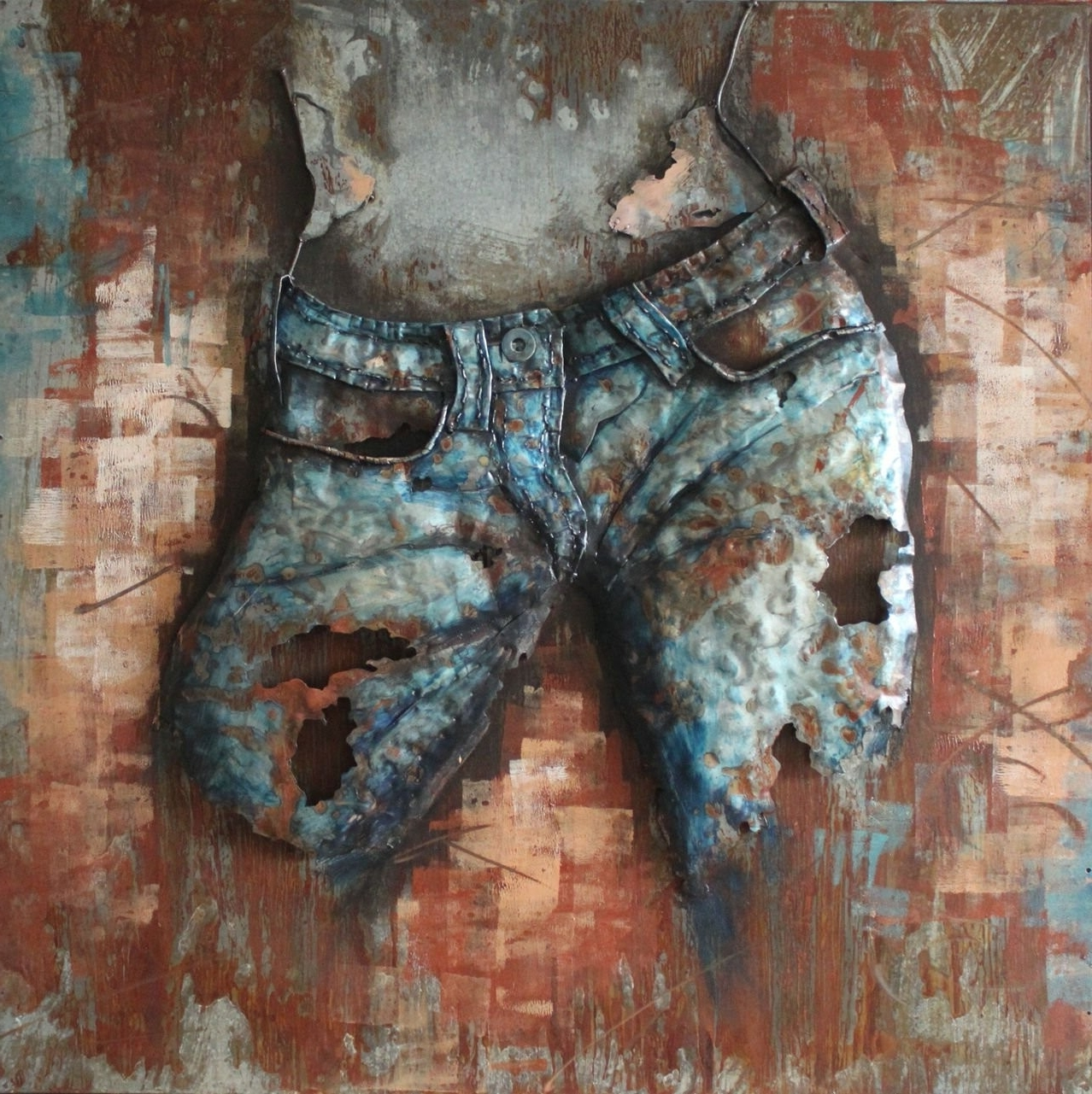 Jeans Cowgirl(Front) – 3D Metal Wall Art – Metal Wall Art Intended For Widely Used 3D Metal Wall Art (Gallery 1 of 15)