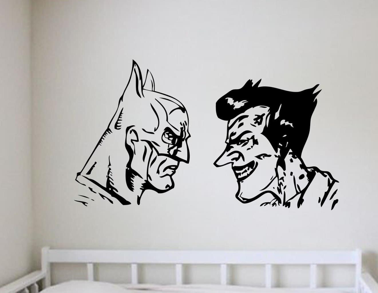 Joker Wall Art Regarding Newest Batman And Joker Wall Art Decal (Gallery 2 of 15)