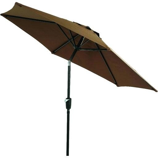 Jordan Patio Umbrellas Inside Widely Used Ft Patio Umbrella Brown Jordan – Lukibo (View 11 of 15)