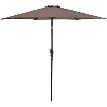Jordan Patio Umbrellas Within Most Up To Date Amazon : Jordan Manufacturing Wood Market Umbrella Black : Patio (Gallery 9 of 15)