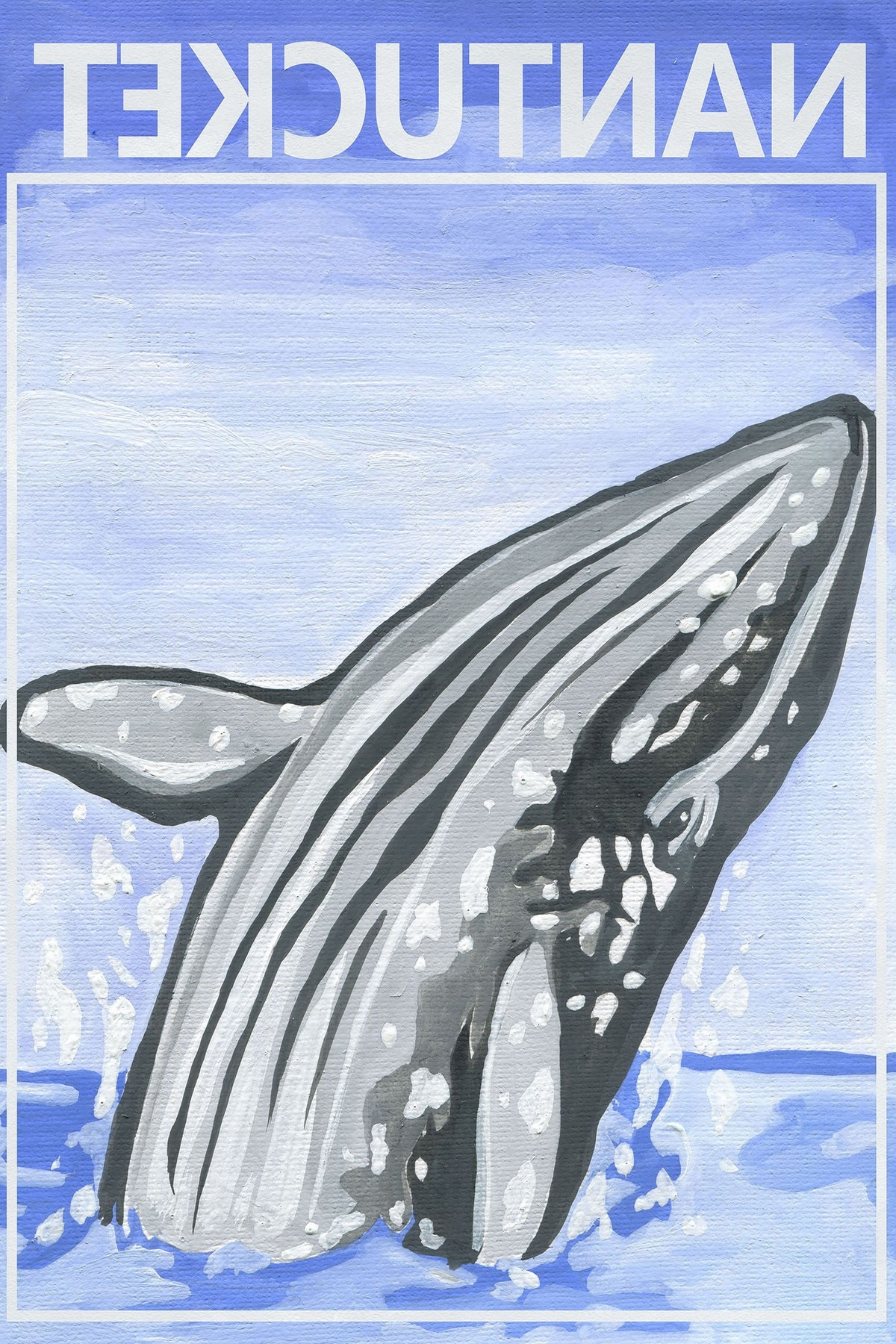 Jumping Whale Canvas Wall Art (View 11 of 15)