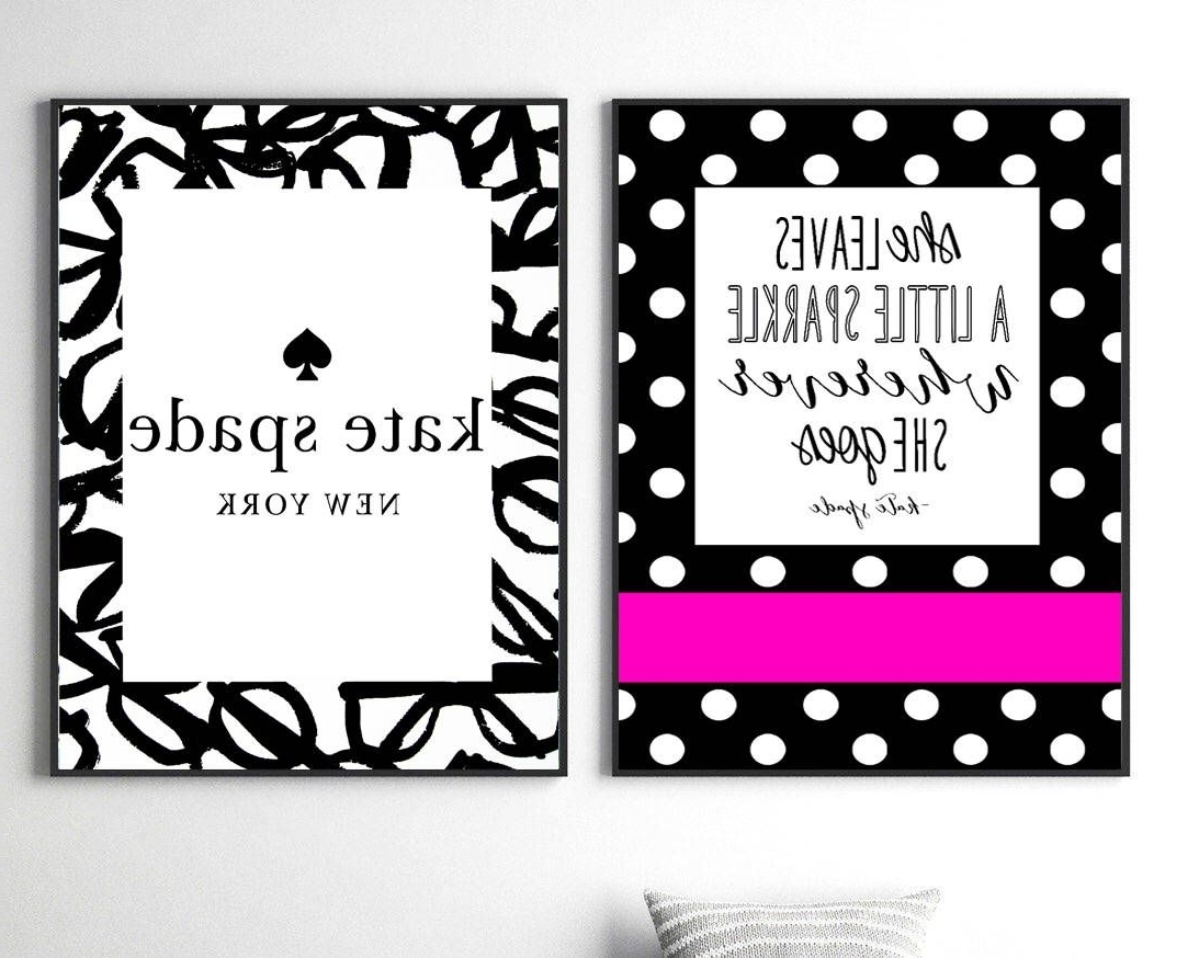 Kate Spade Wall Art Intended For Best And Newest Kate Spade Prints Fashion Wall Art Set Kate Spade Quote Print Kate (View 8 of 15)