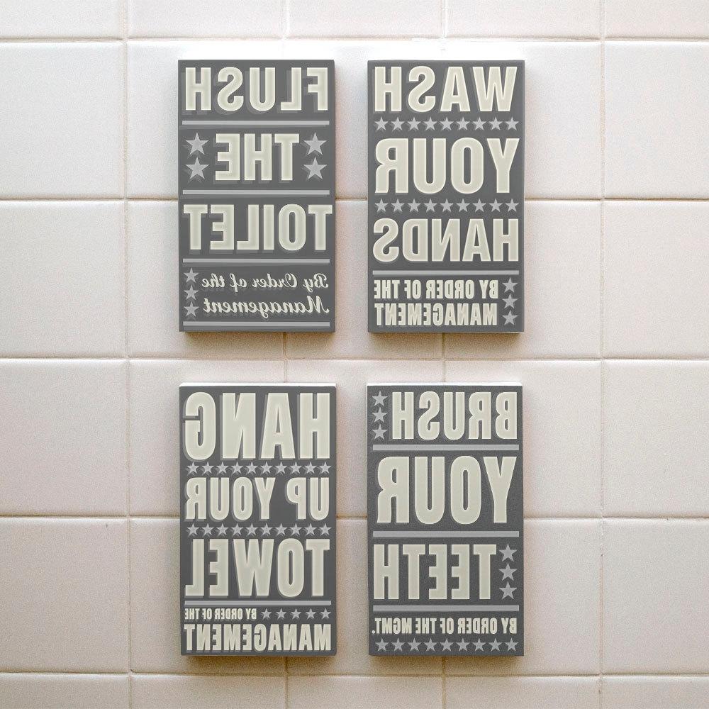 Kids Bathroom Wall Decor Ideas : Awesome Kids Bathroom Wall Decor With Recent Bathroom Wall Art (View 7 of 15)