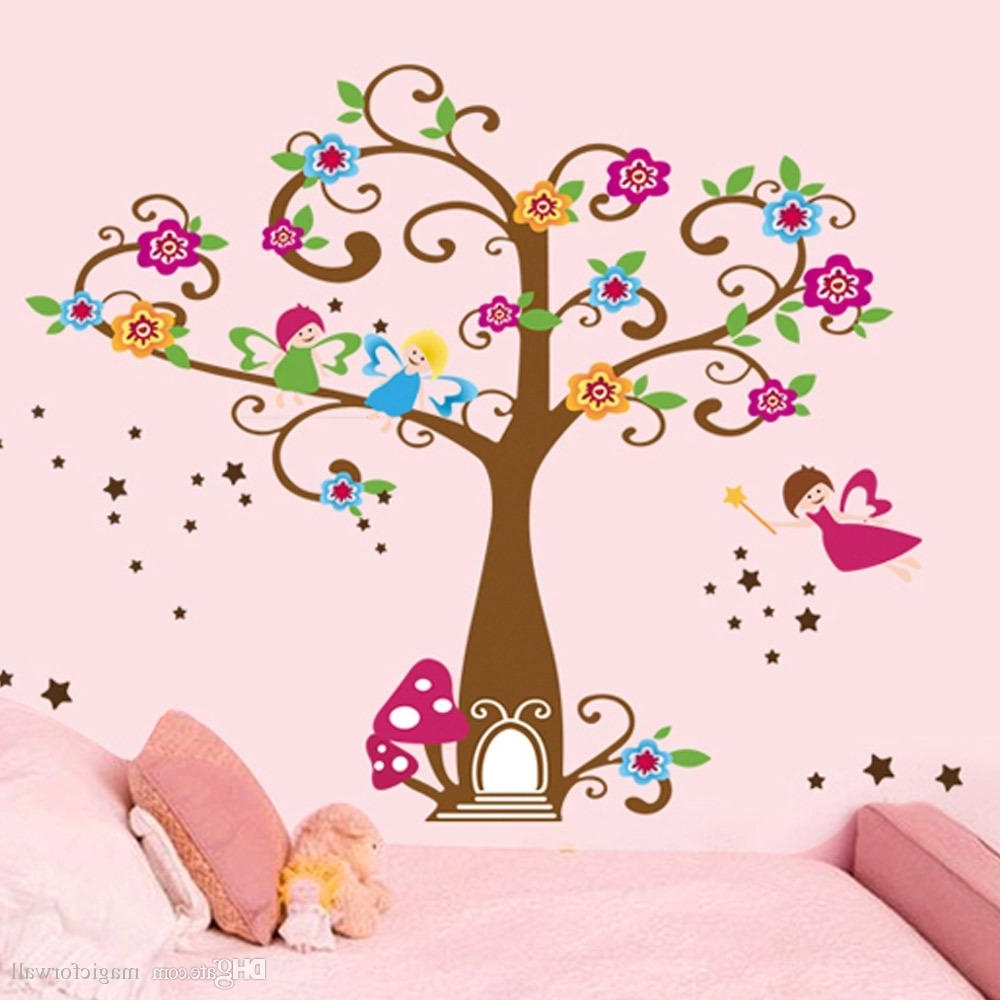 Kids Wall Art With Most Up To Date Little Elf Magic Tree House Wall Decal Stickers Decor For Kids Room (Gallery 3 of 15)
