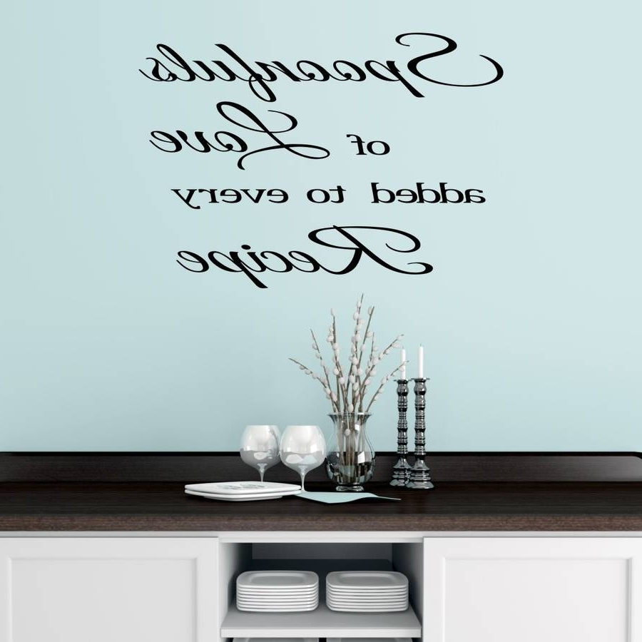 Kitchen Wall Sticker Quotemirrorin (View 3 of 15)