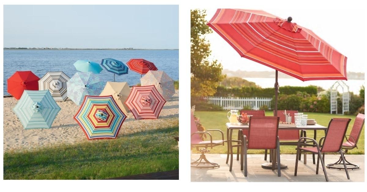 Kohl's: $59.30 Crank & Tilt Patio Umbrella Shipped! ($200 Value) With Regard To Popular Kohls Patio Umbrellas (Gallery 14 of 15)