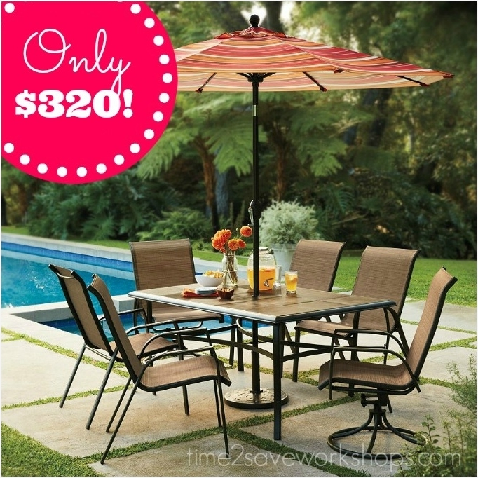 Kohls Patio Umbrellas Intended For 2017 Kohls Patio Umbrella » Inspirational Kohls Sonoma Patio Furniture (View 7 of 15)