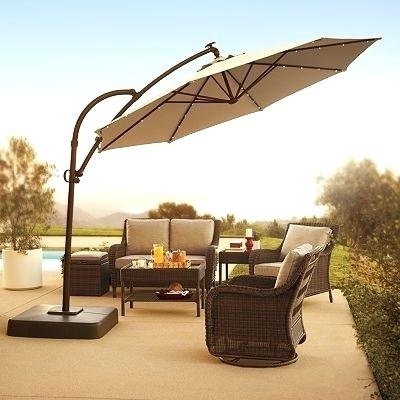 Kohls Patio Umbrellas Regarding Most Up To Date Fresh Kohls Patio Umbrella Or Buy 1 Goods For Life Cantilever Led (View 4 of 15)
