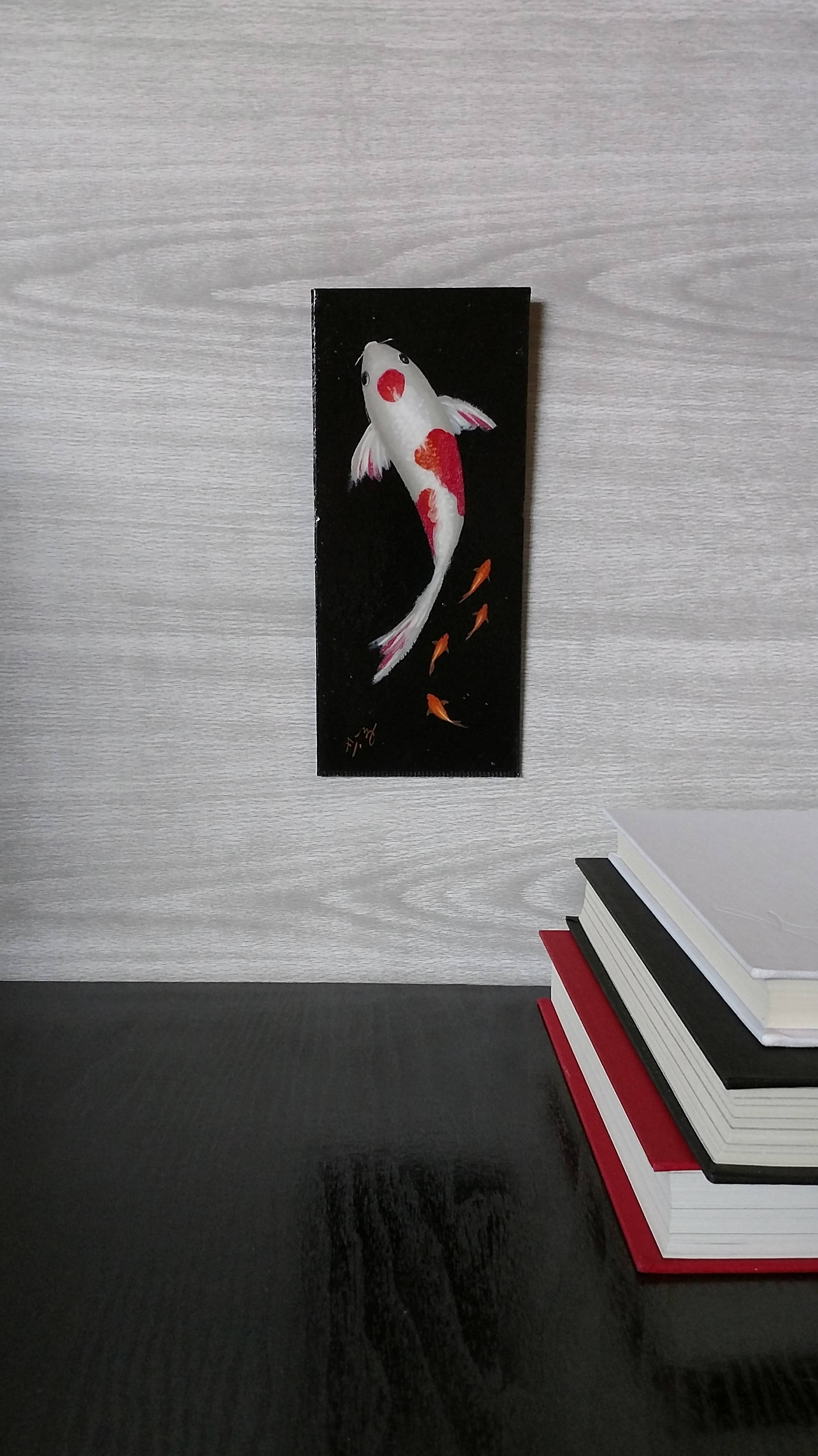 Koi Fish Painting - Goldfish - Wall Art - Painted Fish - Red And with Fashionable Fish Painting Wall Art