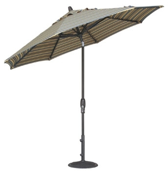 Krevco Patio Umbrellas For Best And Newest 9' Auto Tilt Patio Umbrella – Umbrellas – Patio & Outdoor Living (View 7 of 15)