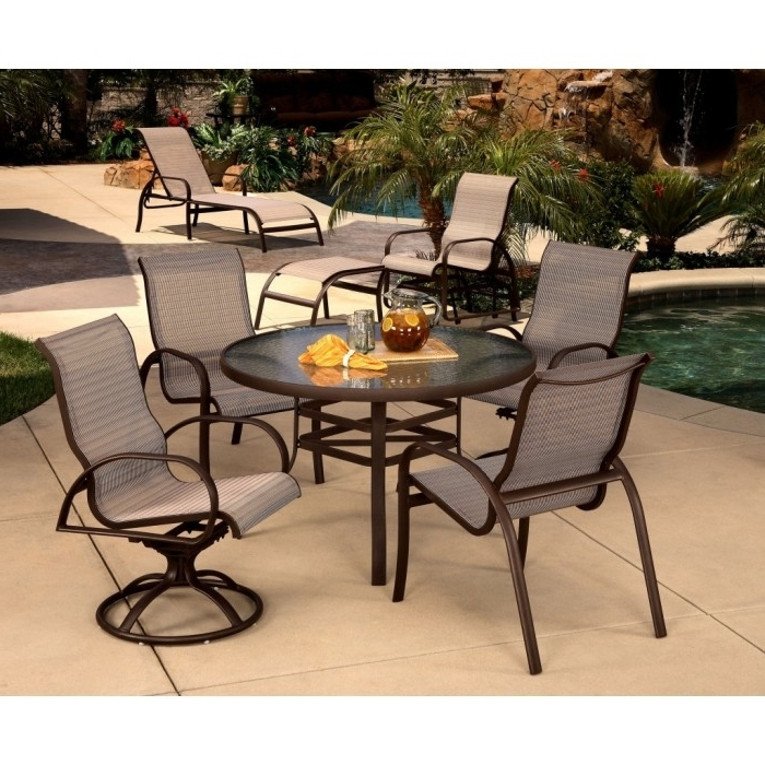 Krevco Patio Umbrellas in Newest Mallin Horizon Sling Collection - Mallin Patio Furniture - Patio