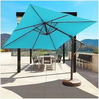 Krevco Patio Umbrellas Pertaining To Recent Small Cantilever Patio Umbrella Impressive Design » Erm Csd (View 10 of 15)