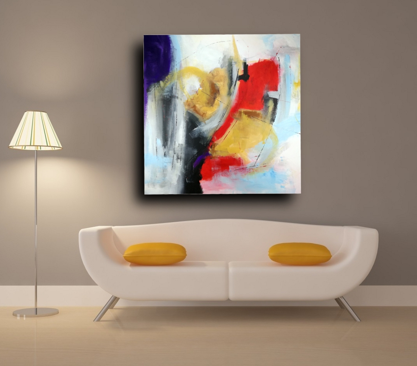 Large Abstract Oil Painting Wall Art With Regard To Most Up To Date Abstract Oil Painting Wall Art (View 6 of 15)