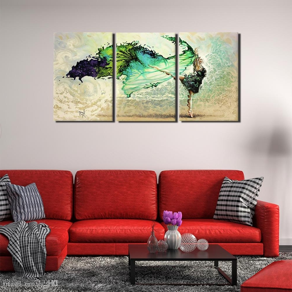 Large Abstract Wall Art Pertaining To Recent 2018 Abstract Art Wall Decor, 3 Panels Extra Large Abstract Canvas (View 6 of 15)