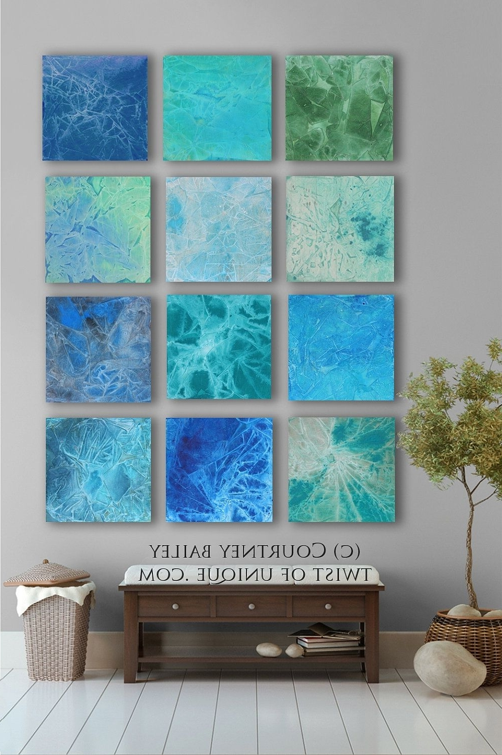 Large Abstract Wall Art Pertaining To Well Known Bold Custom Abstract Painting, 12 Square Modern Abstract Wall Art (View 8 of 15)