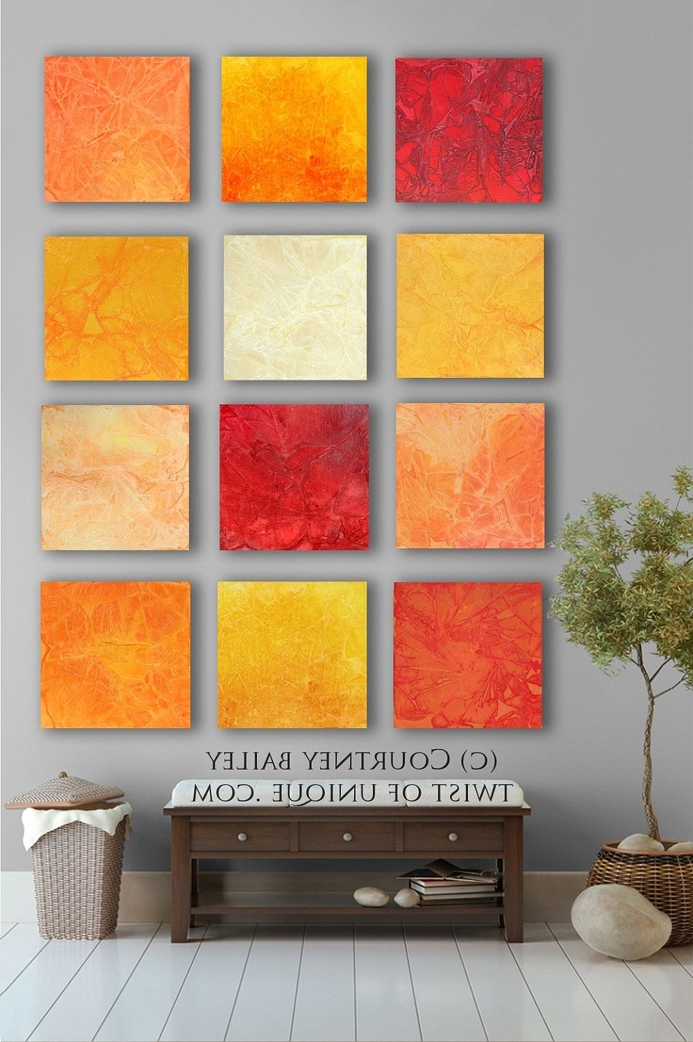 Large Abstract Wall Art Throughout Well Known Bold Custom Abstract Painting, 12 Square Modern Abstract Wall Art (View 8 of 15)