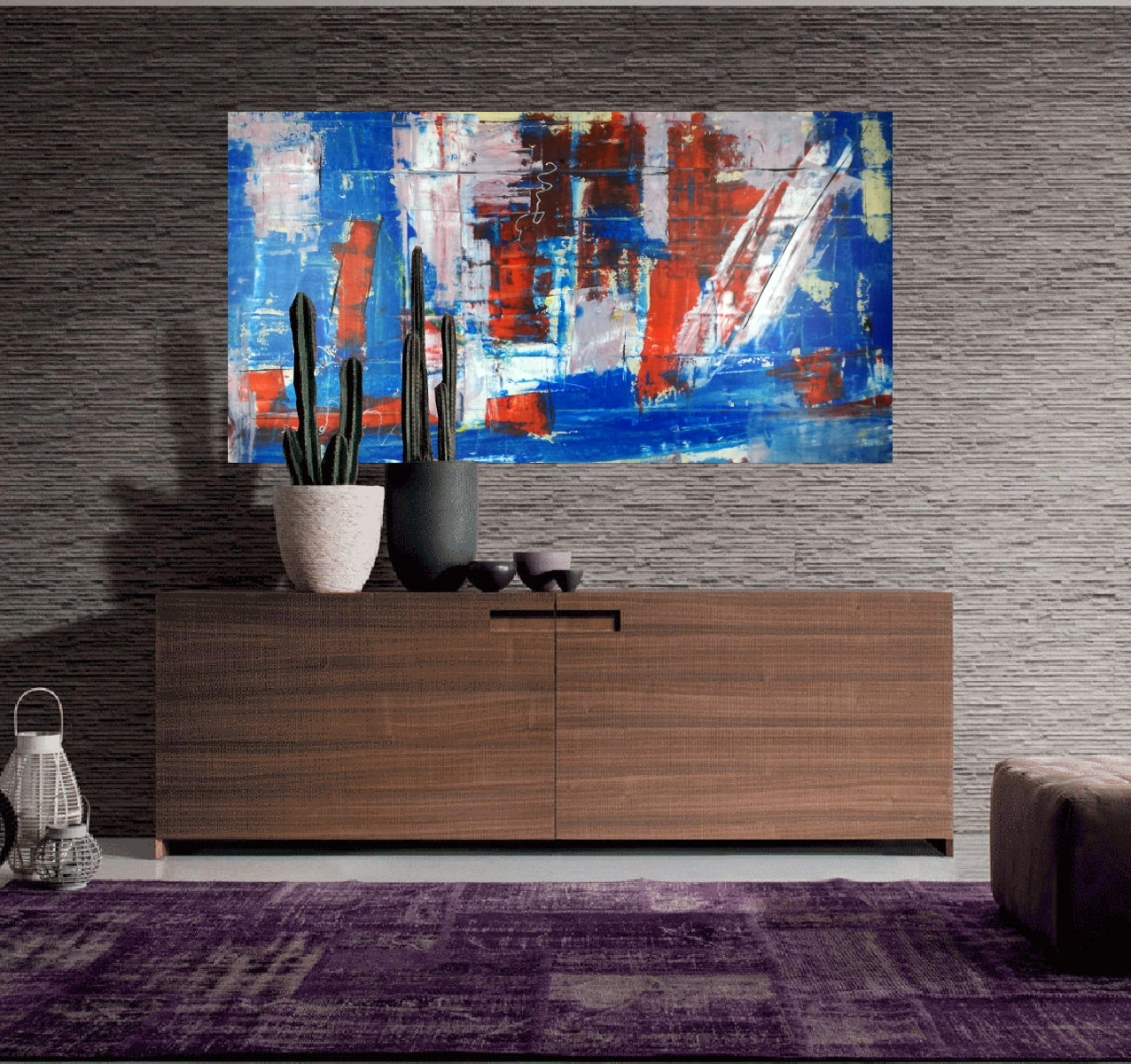 Large Abstract Wall Art Within Recent Large Abstract Canvas Living Room Blue 120X (View 9 of 15)