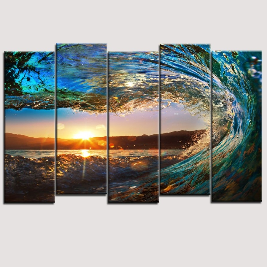 Large Canvas Painting Wall Art With Regard To Trendy Perky Music Multiple Canvas Painting Art Then Guitar To Enticing (View 9 of 15)