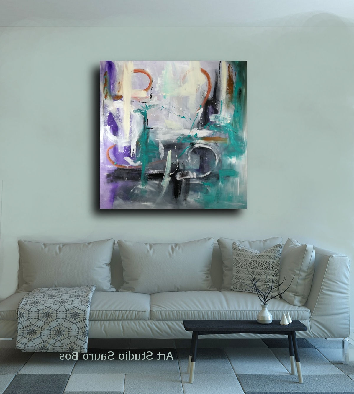 Large Canvas Painting Wall Art Within Most Up To Date Abstract Oil Painting Wall Art 120X (View 7 of 15)