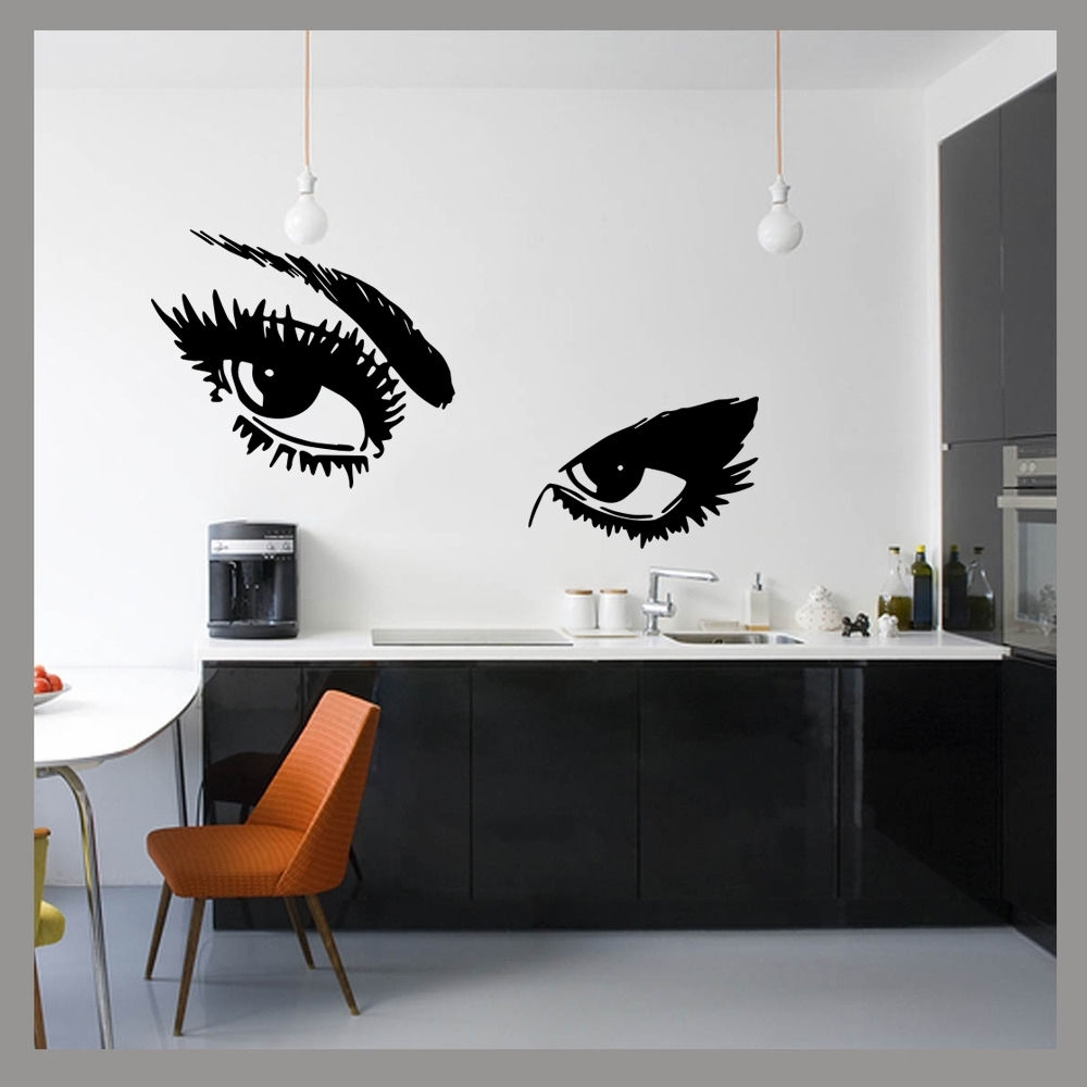 Large Ladies Eyes Glam Beauty Pop Wall Art Decal Sticker Mural Regarding Newest Popular Wall Art (View 3 of 15)