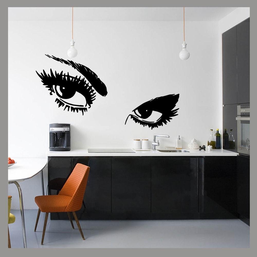 Large Ladies Eyes Glam Beauty Pop Wall Art Decal Sticker Mural Regarding Newest Popular Wall Art (View 6 of 15)